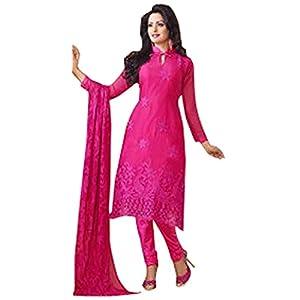 Beautiful Allouring DarkPink Georgette Long salwar Suit