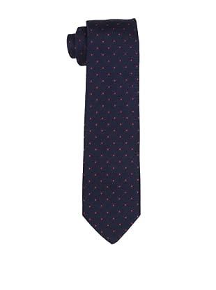 Desanto Men's Smeraldo Grenadine Tie, Navy/Red