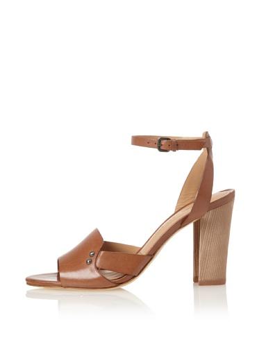Sigerson Morrison Women's Bunch Ankle-Strap Sandal (Brown)