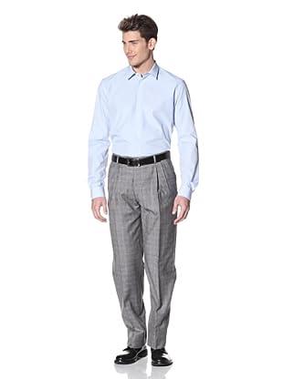 Hart Schaffner Marx Men's Double Reverse Pleat Trouser (Grey)