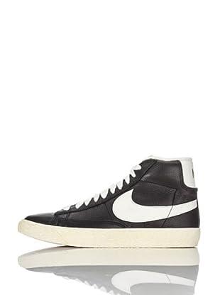 Nike Zapatillas Wmns Blazer Mid Lthr (Vntg) (Negro/Blanco)