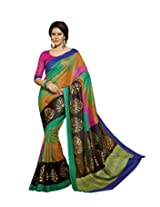 Bhavi Saree Tassar Silk Saree with Blouse Piece (Bhvp12551 _Multi-Coloured)