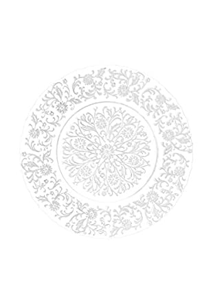 Prima Designs Floral Lace Charger, White/Clear