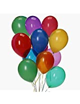 Tiger 50030 Plain Medium Balloon Multicolor (Pack of 100)