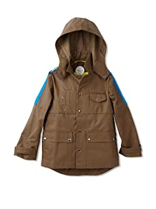 kicokids Boy's Reefer Jacket with Interior Built in Shoulder Hang Suspenders (Khaki)