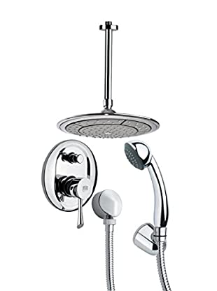 Remer By Nameek's 4-Piece Orsino Convex Ceiling-Mounted Shower Set, Chrome