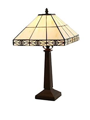 Legacy Lighting Simply Mission 1-Light Table Lamp, Burnished Walnut
