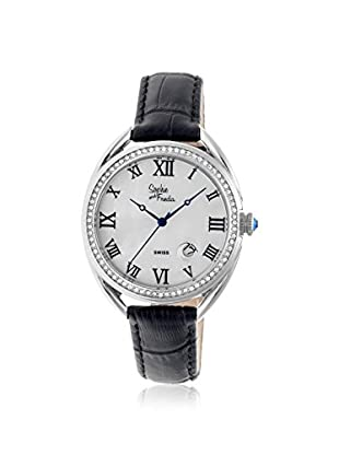 Sophie and Freda Women's SF2902 Austin Black/White Leather Watch