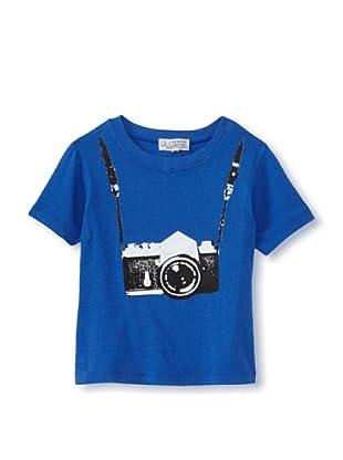 LA Lounge Boy's Photographer Crewneck Tee (Blue)