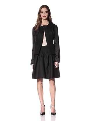 NINA RICCI Women's Wool Jacket with Back Inset (Black)