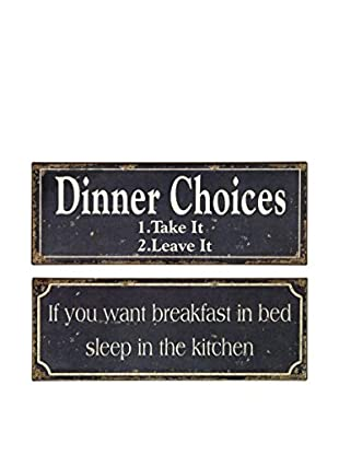 Set of 2 Breakfast and Dinner Signs