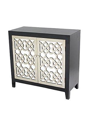 Teton Home 2-Door Wood Cabinet, Black