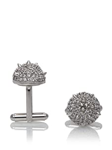 nOir Men's Spike Ball Cufflinks, Silver