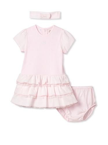 Emile et Rose Baby Girl's 3-Piece Ruffle Dress Set (Pale Pink)