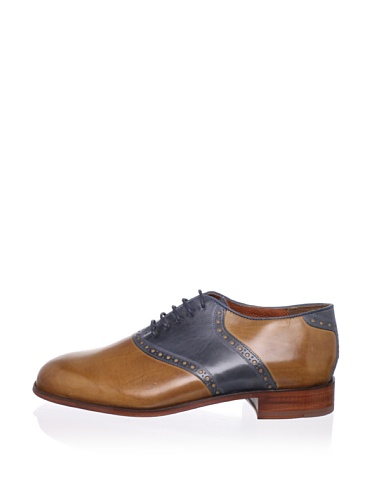 Florsheim by Duckie Brown Men's Saddle Oxford (Toffee/Blue)