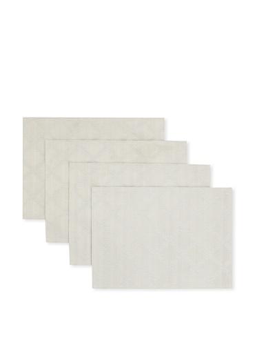 Lenox Set of 4 Laurel Leaf Placemats (Platinum)