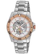 Kenneth Cole Analog Modern Core Triple Silver Automatic Stainless Steel Bracelet Watch for Men IKC9254