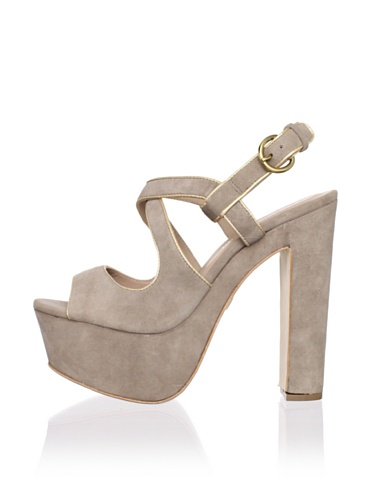 Pour La Victoire Women's Gitta Platform Sandal (Mushroom)