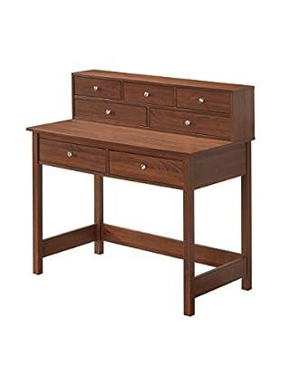 Techni Mobili Elegant Desk/Hall Table with Storage, Oak