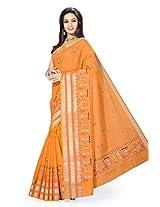 Rani Saahiba Cotton Resham Gadwaal Saree(Skr876_Orange)