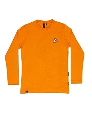El Niño Camiseta Manga Larga Vendado (naranja)