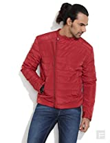 Wrangler Winters Here Quilted Jacket -Red-S