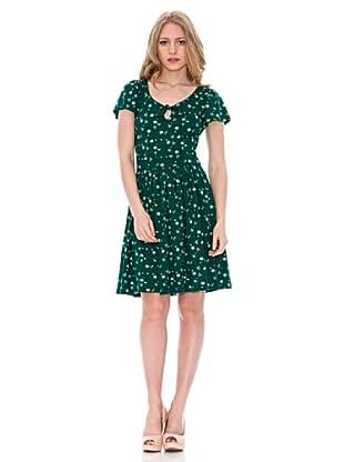 Springfield Vestido Lazo Cuello (Verde)