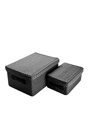 Zings Aufbewahrungsbox 2er Set schwarz