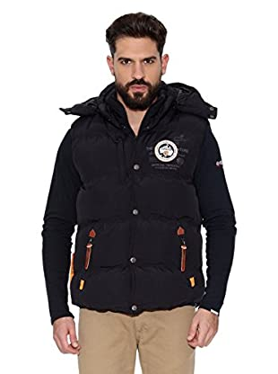Geographical Norway Chaleco Veron Men 5 Repeat (Negro / Negro)