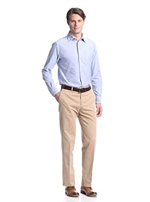 Coppley Men's Brushed Twill Trousers (Beige Brushed Cotton)