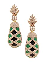 Habors Gold-Plated Dangle & Drop Earring For Women (Black)