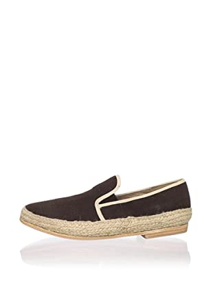 JD Fisk Men's Jeeves Slip-On (Chocolate Canvas)