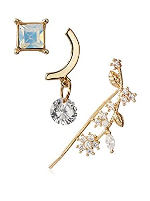Jules Smith Opal & Rhinestone Earring Set of 3