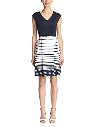 Sandra Darren Women's Cap Sleeve Fit-and-Flare Dress