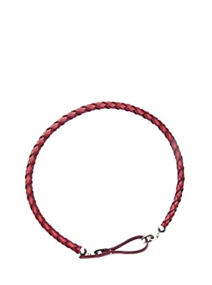 Trussardi Cinturón Trenzado Redondo (Rojo)