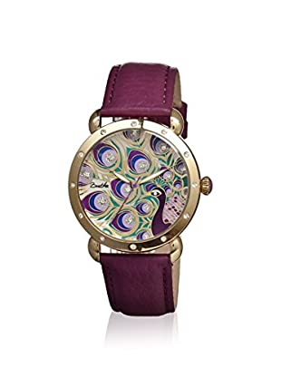 Bertha Women's BR3805 Genevieve Fushia/Multicolor Leather Watch