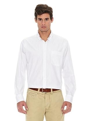 Turrau Camisa Raya Fina Bicolor (Marrón / Beig)