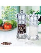 Transparent Acrylic Pepper Salt Mill Spice Grinder Muller Kitchen Tool(1 Pc)