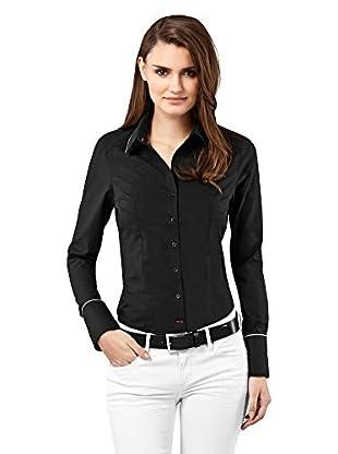 Vincenzo Boretti Camisa Mujer Modern-Fit, Uni, Easy Iron