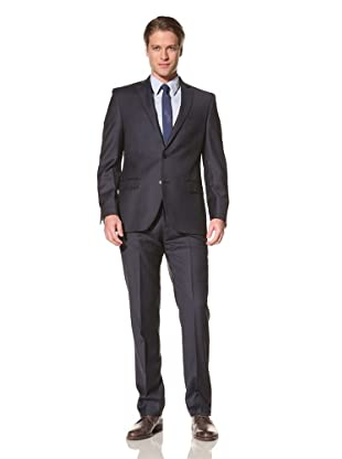 Tallia Men's Varga 2 Button Plaid Suit (Navy)
