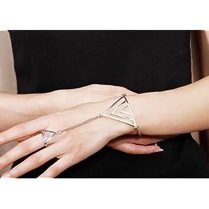 Triangle Exaggerated Fashion Ring Bracelet