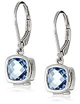 ELLE Jewelry Blue Quartz Drop Earrings