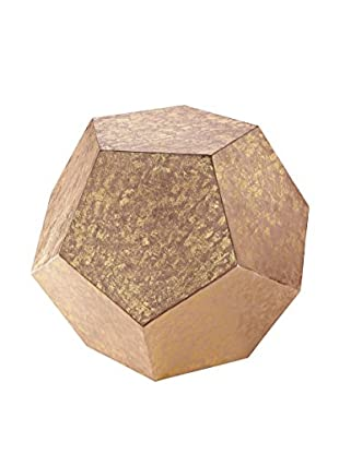 Artistic Glam Rock Dodecahedron Cube, Copper