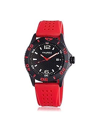 Haurex Men's 3N500URN Factor Red/Black Rubber Watch