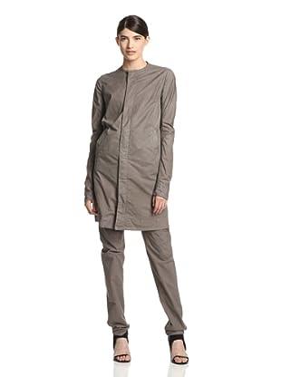 Rick Owens DRKSHDW Women's Peelab Collarless Coat (Dna Dust)