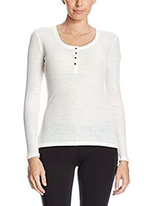 super natural Longsleeve Base Button Henley Rib 165