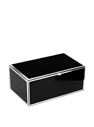 Mia Collection Glass Jewelry Box (Black)