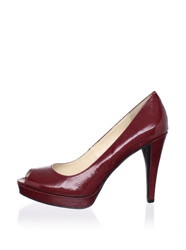 Calvin Klein Women's Sandie Platform Pump (Deep Red)