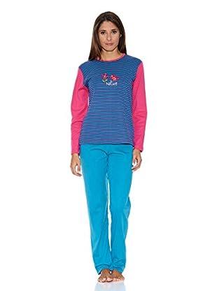Asman Pijama Señora (Azul)