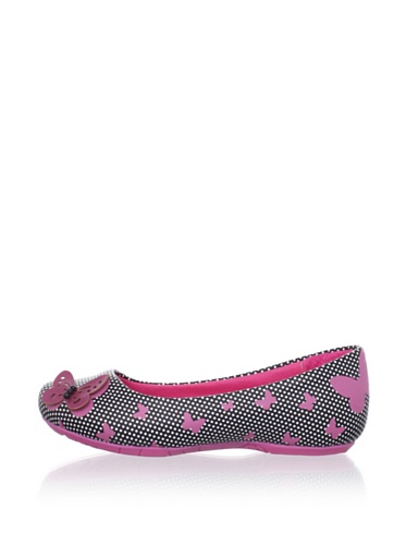 Pampili Kid's Butterfly Dot Flat (Black/New Pink)